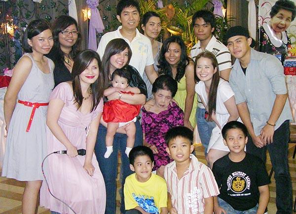 Lola Tacing and Her Grandchildren